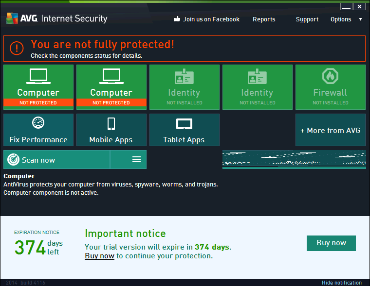 AVG Internet Security 2015 & Antivirus Pro 2015
