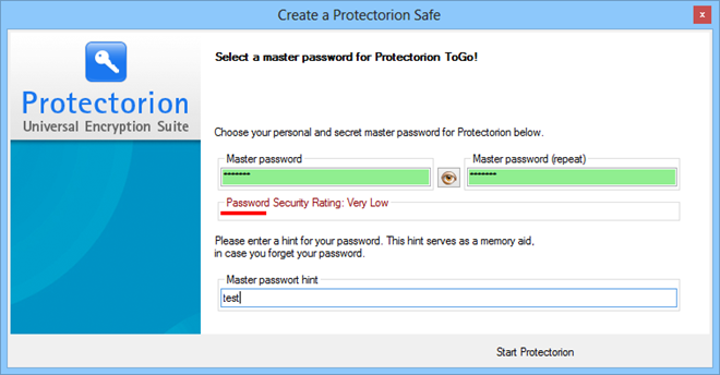 Protectorion-ToGo_Password