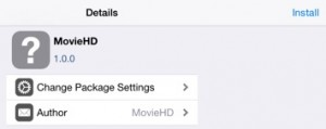 Install Movie HD