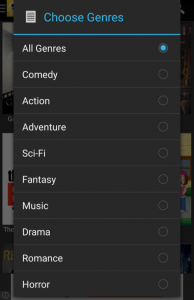 Movie HD Choose Genre
