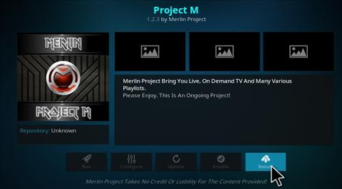 How to Install Project M Add-on Kodi 17 Krypton step 18