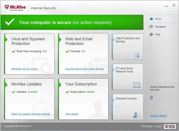 McAfee Internet Security 2014 licenta gratuita 6 luni